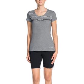 VAUDE Gleann V - Camiseta manga corta Mujer - gris